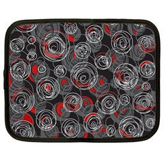 Red and gray abstract art Netbook Case (XL)