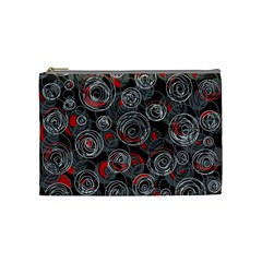 Red and gray abstract art Cosmetic Bag (Medium)