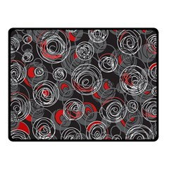Red and gray abstract art Fleece Blanket (Small)