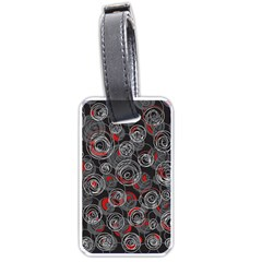 Red and gray abstract art Luggage Tags (Two Sides)