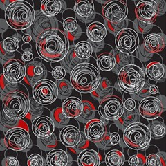 Red and gray abstract art Magic Photo Cubes