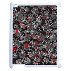 Red and gray abstract art Apple iPad 2 Case (White)