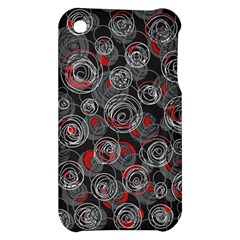 Red and gray abstract art Apple iPhone 3G/3GS Hardshell Case