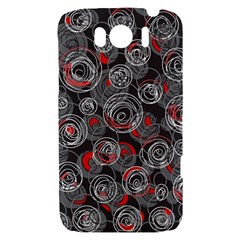 Red and gray abstract art HTC Sensation XL Hardshell Case