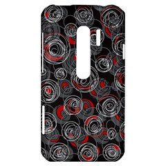 Red and gray abstract art HTC Evo 3D Hardshell Case