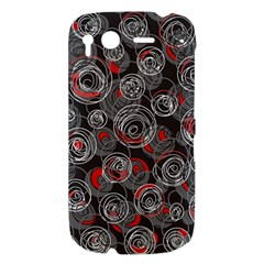 Red and gray abstract art HTC Desire S Hardshell Case