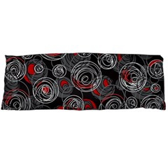 Red and gray abstract art Body Pillow Case Dakimakura (Two Sides)
