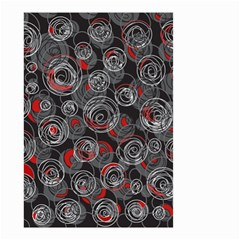 Red and gray abstract art Small Garden Flag (Two Sides)