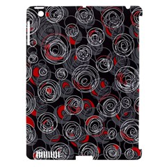 Red and gray abstract art Apple iPad 3/4 Hardshell Case (Compatible with Smart Cover)