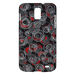 Red and gray abstract art Samsung Galaxy S II Skyrocket Hardshell Case