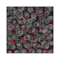 Red and gray abstract art Acrylic Tangram Puzzle (6  x 6 )
