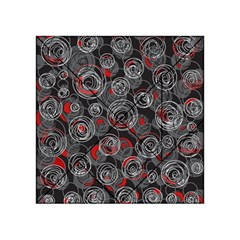 Red and gray abstract art Acrylic Tangram Puzzle (4  x 4 )
