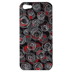 Red and gray abstract art Apple iPhone 5 Hardshell Case