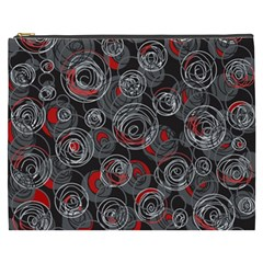 Red and gray abstract art Cosmetic Bag (XXXL)