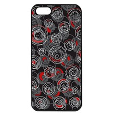 Red And Gray Abstract Art Apple Iphone 5 Seamless Case (black)