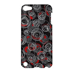 Red and gray abstract art Apple iPod Touch 5 Hardshell Case