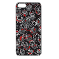 Red and gray abstract art Apple Seamless iPhone 5 Case (Clear)