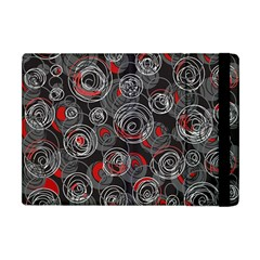 Red and gray abstract art Apple iPad Mini Flip Case