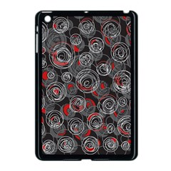 Red and gray abstract art Apple iPad Mini Case (Black)