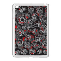 Red and gray abstract art Apple iPad Mini Case (White)