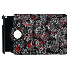 Red and gray abstract art Apple iPad 3/4 Flip 360 Case