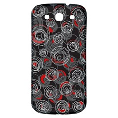 Red and gray abstract art Samsung Galaxy S3 S III Classic Hardshell Back Case