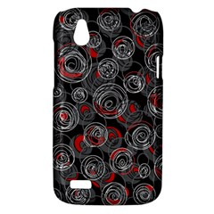 Red and gray abstract art HTC Desire V (T328W) Hardshell Case