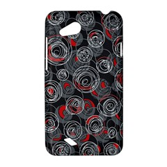 Red and gray abstract art HTC Desire VC (T328D) Hardshell Case