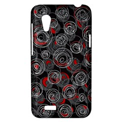 Red and gray abstract art HTC Desire VT (T328T) Hardshell Case