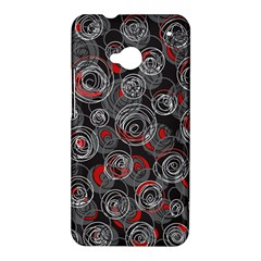 Red and gray abstract art HTC One M7 Hardshell Case