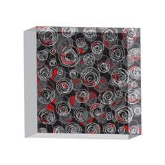 Red and gray abstract art 4 x 4  Acrylic Photo Blocks