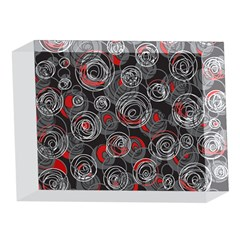 Red and gray abstract art 5 x 7  Acrylic Photo Blocks