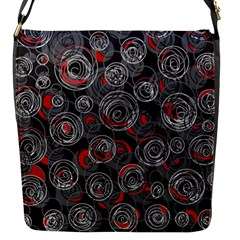 Red And Gray Abstract Art Flap Messenger Bag (s)