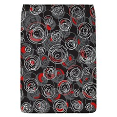 Red and gray abstract art Flap Covers (S)