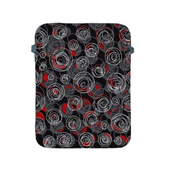 Red and gray abstract art Apple iPad 2/3/4 Protective Soft Cases