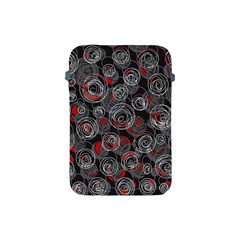 Red and gray abstract art Apple iPad Mini Protective Soft Cases