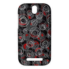 Red and gray abstract art HTC One SV Hardshell Case
