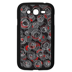 Red and gray abstract art Samsung Galaxy Grand DUOS I9082 Case (Black)