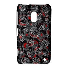 Red and gray abstract art Nokia Lumia 620