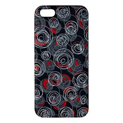 Red and gray abstract art iPhone 5S/ SE Premium Hardshell Case