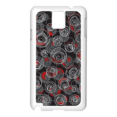 Red and gray abstract art Samsung Galaxy Note 3 N9005 Case (White)