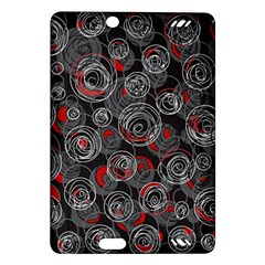 Red and gray abstract art Amazon Kindle Fire HD (2013) Hardshell Case
