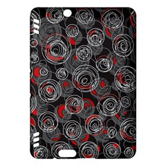 Red and gray abstract art Kindle Fire HDX Hardshell Case