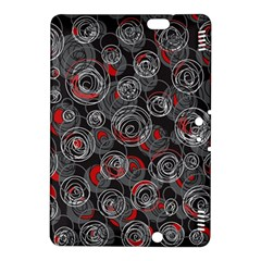Red and gray abstract art Kindle Fire HDX 8.9  Hardshell Case