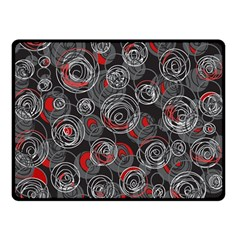 Red and gray abstract art Double Sided Fleece Blanket (Small)