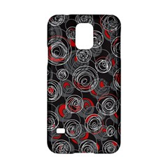 Red and gray abstract art Samsung Galaxy S5 Hardshell Case