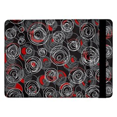Red and gray abstract art Samsung Galaxy Tab Pro 12.2  Flip Case