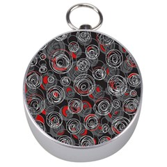 Red and gray abstract art Silver Compasses