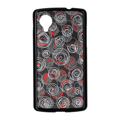 Red and gray abstract art Nexus 5 Case (Black)