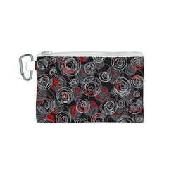 Red and gray abstract art Canvas Cosmetic Bag (S)